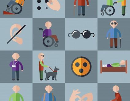 Handicap visuel picto