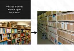 photos avant et après traitement des archives